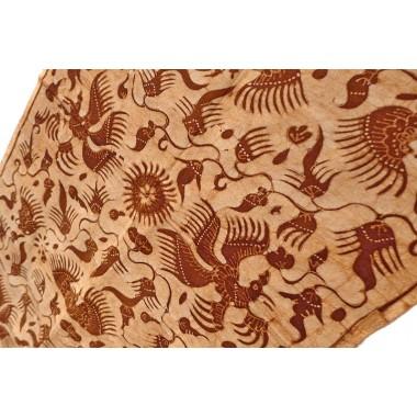 Batik marrón Indonesia