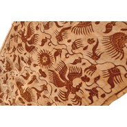 Javanese Batik cream & brown