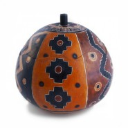 Carved gourd box