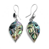 Avalon leaf silver earrings