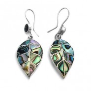 Avalon leaf silver earrings