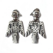 Condor silver earrings