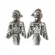 Pendientes cóndor de plata