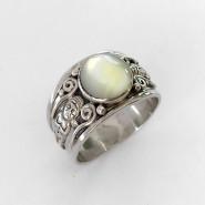Andean nacar silver ring