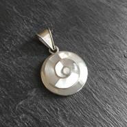 Colgante espiral blanca