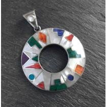 White calendar silver pendant