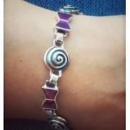 Pulsera espirales violeta