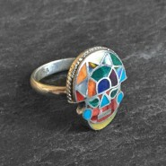 Tumi rainbow silver ring