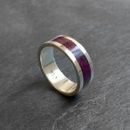 Inca violet silver ring
