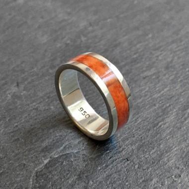 Inca orange silver ring
