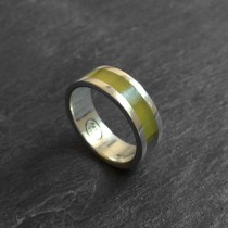 Inca serpentine silver ring