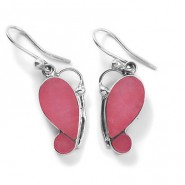 Pink quartz butterfly earrings
