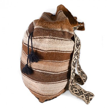 Natural wool backpack