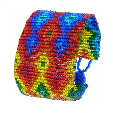 Rainbow Huichol bracelet