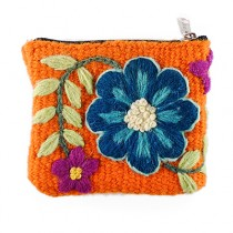 Ayacucho orange embroidered purse