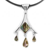 Avalon diamond silver pendant