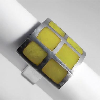 Serpentine silver ring