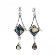 Avalon diamond silver earrings