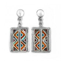 Small Inca silver earrings