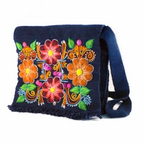 Blue Ayacucho embroidered bag