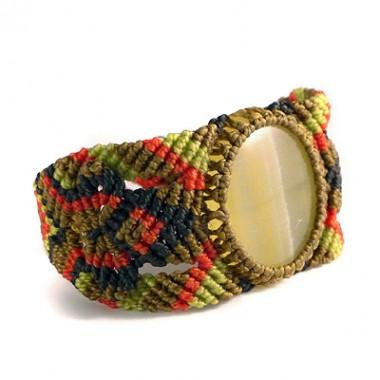 Green onyx macrame bracelet