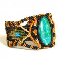 Turquoise macrame bracelet