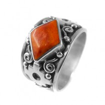 Orange chakana ring