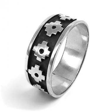 Chakanas silver ring