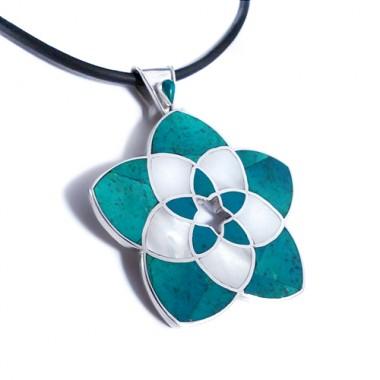 Venus flower silver pendant
