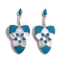 Venus flower silver earrings