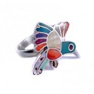 Anillo colibrí arcoiris
