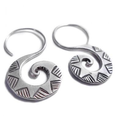 Pendientes tribal Tai espiral
