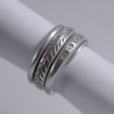 Hilltribe Thai silver ring