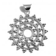 Silver mandala XL pendant