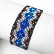 Blue & white Shipibo bracelet