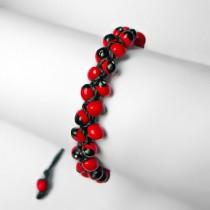 Huayruro seeds macrame bracelet