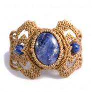 Sodalite and lapis macrame bracelet