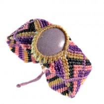Tourmaline violet macrame bracelet