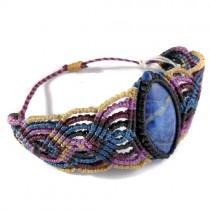Sodalite macrame bracelet