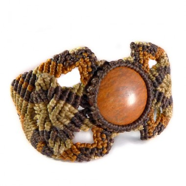 Jasper macrame bracelet