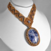 Sodalite macrame necklace