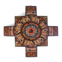 Chacana de madera pintada